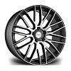 RV126 Riviera Alloy Wheels - Satin Black Polished